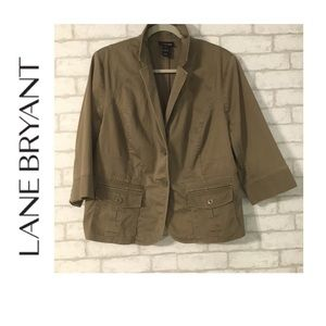 Lane Bryant Cropped Cargo Jacket Olive Green 20